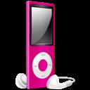 Ipod, Nano, Off, Pink icon