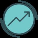 Income increase icon