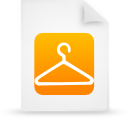paper, orange, document, file icon
