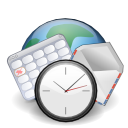 internet, message, mail, calendar, history, date, letter, planet, alarm clock, earth, world, kontact, schedule, envelop, time, globe, alarm, clock, email icon