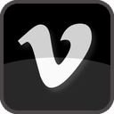 film, share, vimeo, tv, black, square, social media, social, video, movie, tube, play, player, upload video, multimedia icon