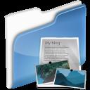 blog, dossier icon