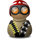 night, vision, beige, helmet, red icon