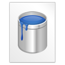 file, blu paint, document, kra, krita, paper icon