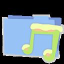 Blue, Folder, Music icon