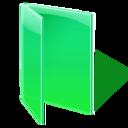 open, folder, green icon