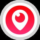 social, logo, media, periscope icon