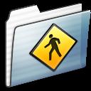public, stripe, folder, graphite icon