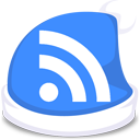 rss, feed, blue, xmas, subscribe icon
