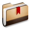 Bookmarks, Brown, Folder icon