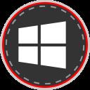 media, social, online, windows icon