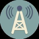 wifi, waves, music, internet, tv, radio, station icon