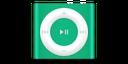 apple, ipod, product, green, shuffle icon