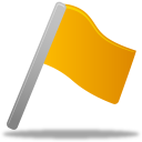 Flag, Yellow icon