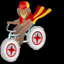 Monkey bicycle icon