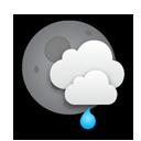 night, shower icon
