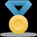 Metal gold blue icon