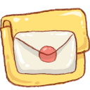 Folder, Hp, Mail icon