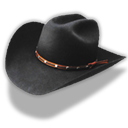 Black, Cowboy, Hat icon