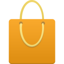 bag, orange, shopping icon