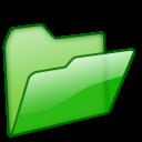 folder, green, open icon