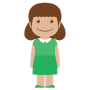 female, avatar, person, green, kid, child, girl icon