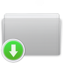 Folder Drop Graphite icon