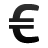 money, cash, euro, cur, currency, coin icon
