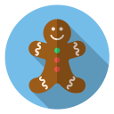 gingerbread, xmas, smile, christmas, cute, winter, holiday icon