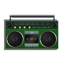green, boombox icon