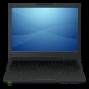 computer, notebook, laptop, black icon