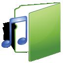 music, green, folder icon