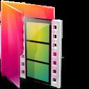 Aurora, Folders, texto, Movies icon