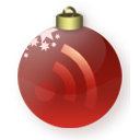 rss, subscribe, red, christmas, feed icon