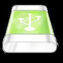 drive green usb icon