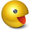 pacman, cute, games, yellow, smiley icon