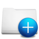 white,folder,add icon