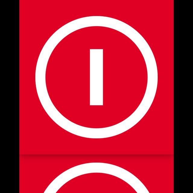mirror, shut, down, power icon
