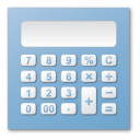 calculation, calculator, blue, calc icon