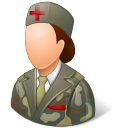 Medical Army Nurse Female Light icon