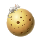 moon, planet, cheese, mouse icon