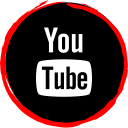 media, social, logo, youtube icon