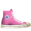 converse,rose,dirty icon