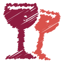 glass, drink, scribble, wine, bottle, beverage, alcohol icon