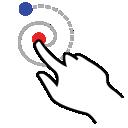 right, gestureworks, stroke, shape, spiral icon