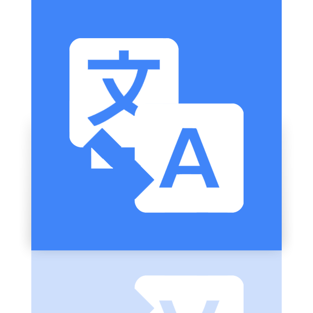 translate, mirror, google icon