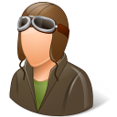 Occupations Pilot OldFashioned Male Light icon