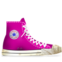 Converse, Dirty, Pink icon
