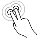 two, triple, finger, tap, gestureworks icon