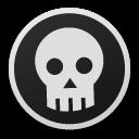 skull, bw icon